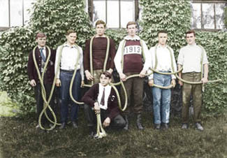Rope pull participants, ca.1913