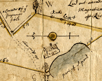 An image of: Survey of property purchased by Thomas and William Wallis