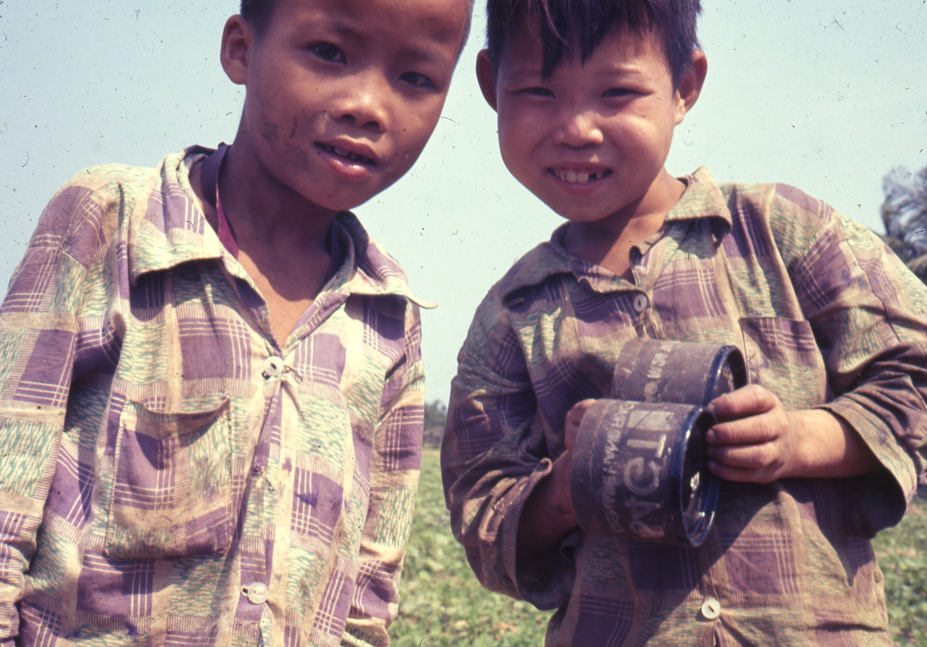 Photograph of two Vietnamese children take by Entin, ca. 1967.