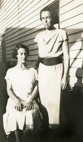 An image of: Ruth Totman (standing) and Jean Lewis, ca.1935