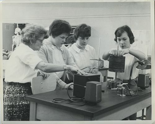 Image of BJ White with students