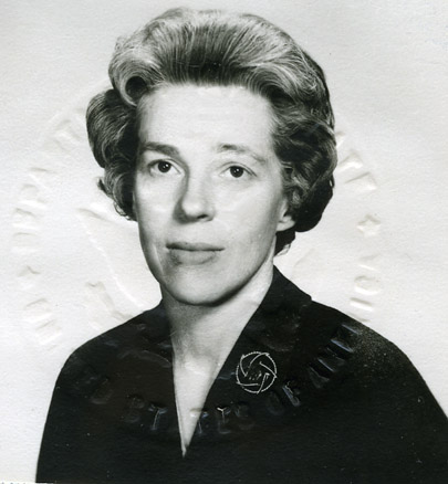 Miriam Chrisman (passport photo), 1964
