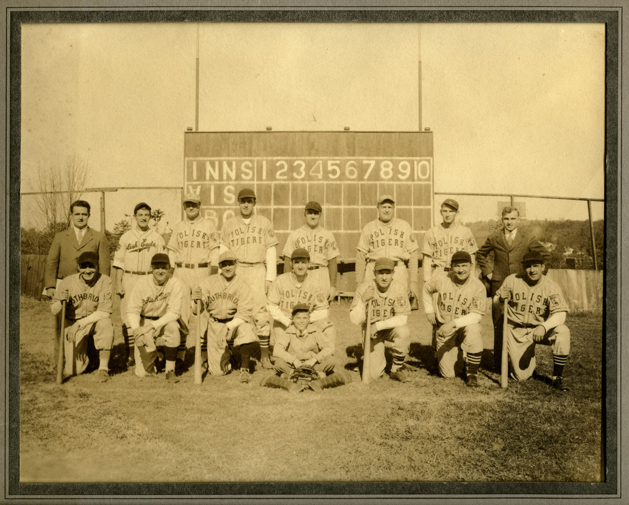Depiction of Polish Tigers baseball team, ca.1935