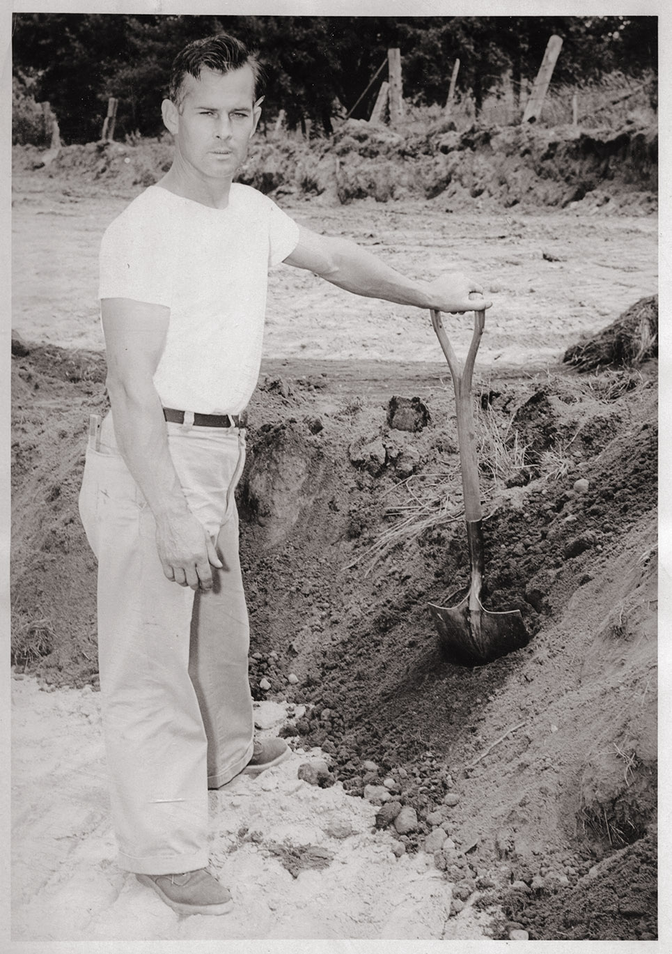 Image of Terry B. Kinney at groundbreaking, July 1954