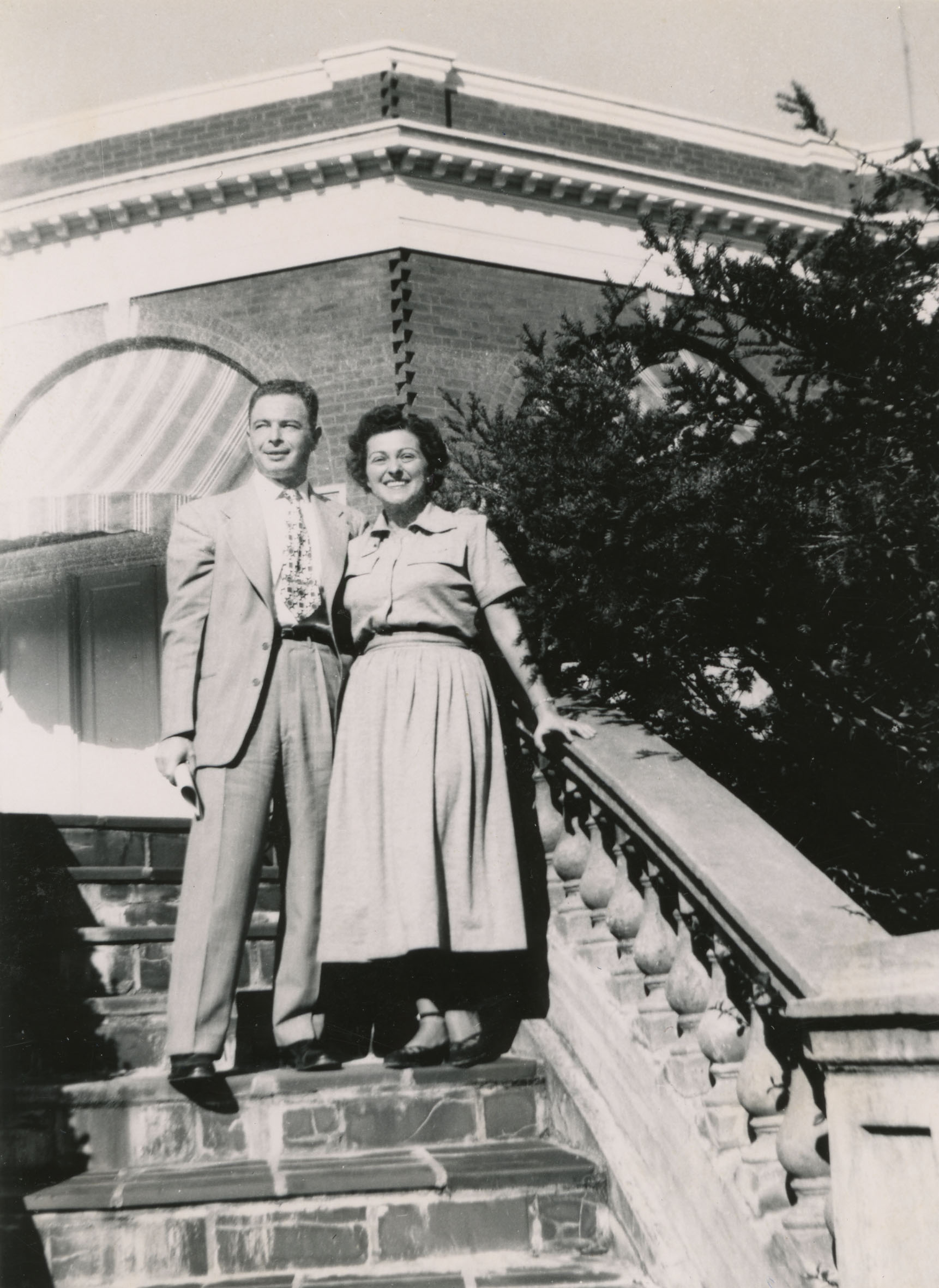 An image of: Abe and Ruth Ozer in Virginia, 1951
