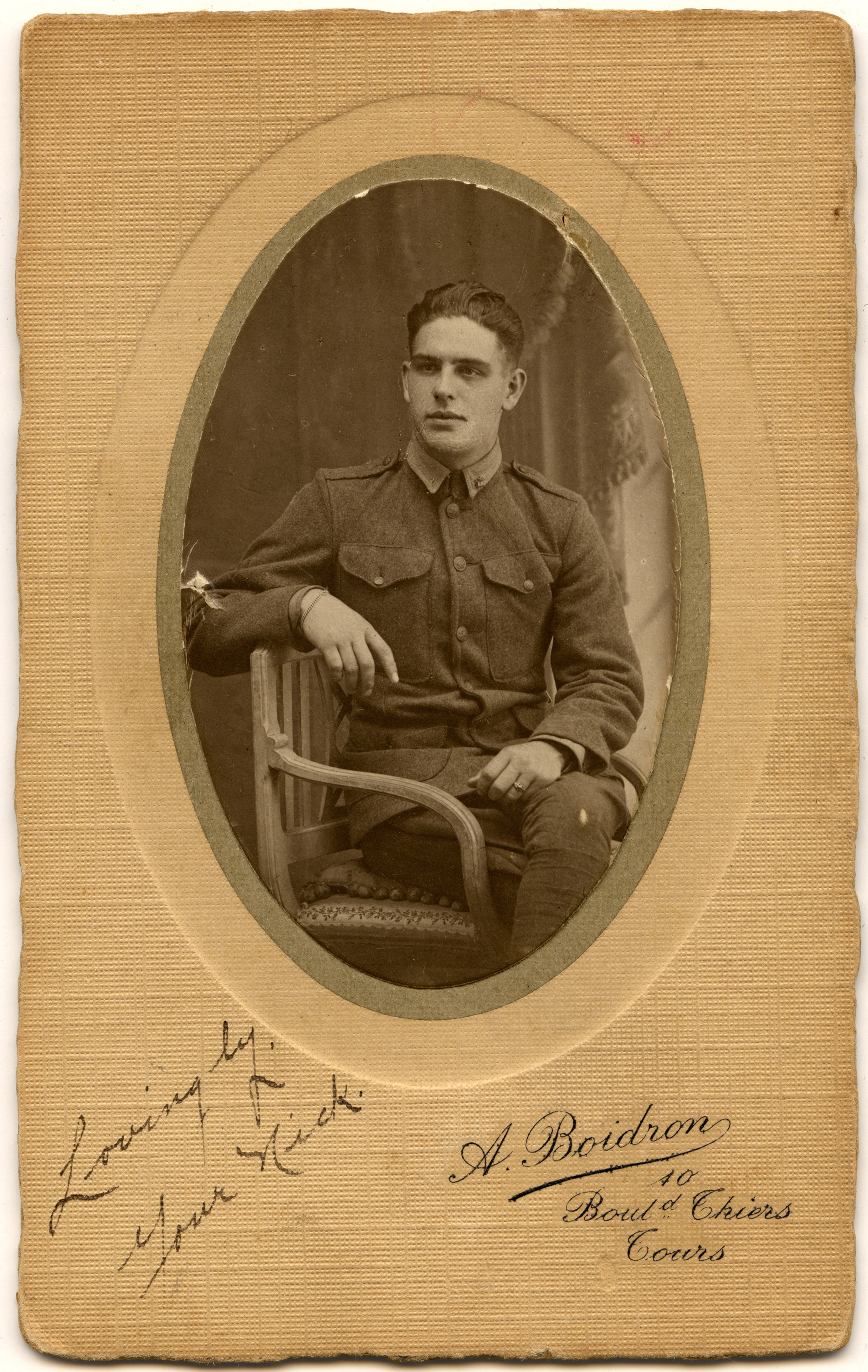 An image of: Frank                 Newth, ca. 1918
