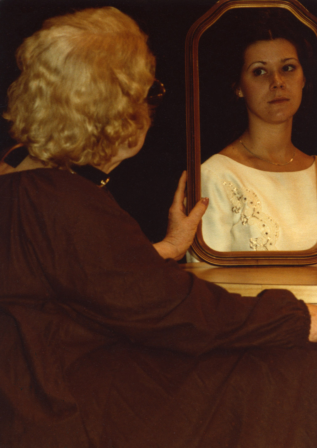 Depiction of Dorothy Doty in Changes/Ages/Images, 1980 (College Avenue Players)