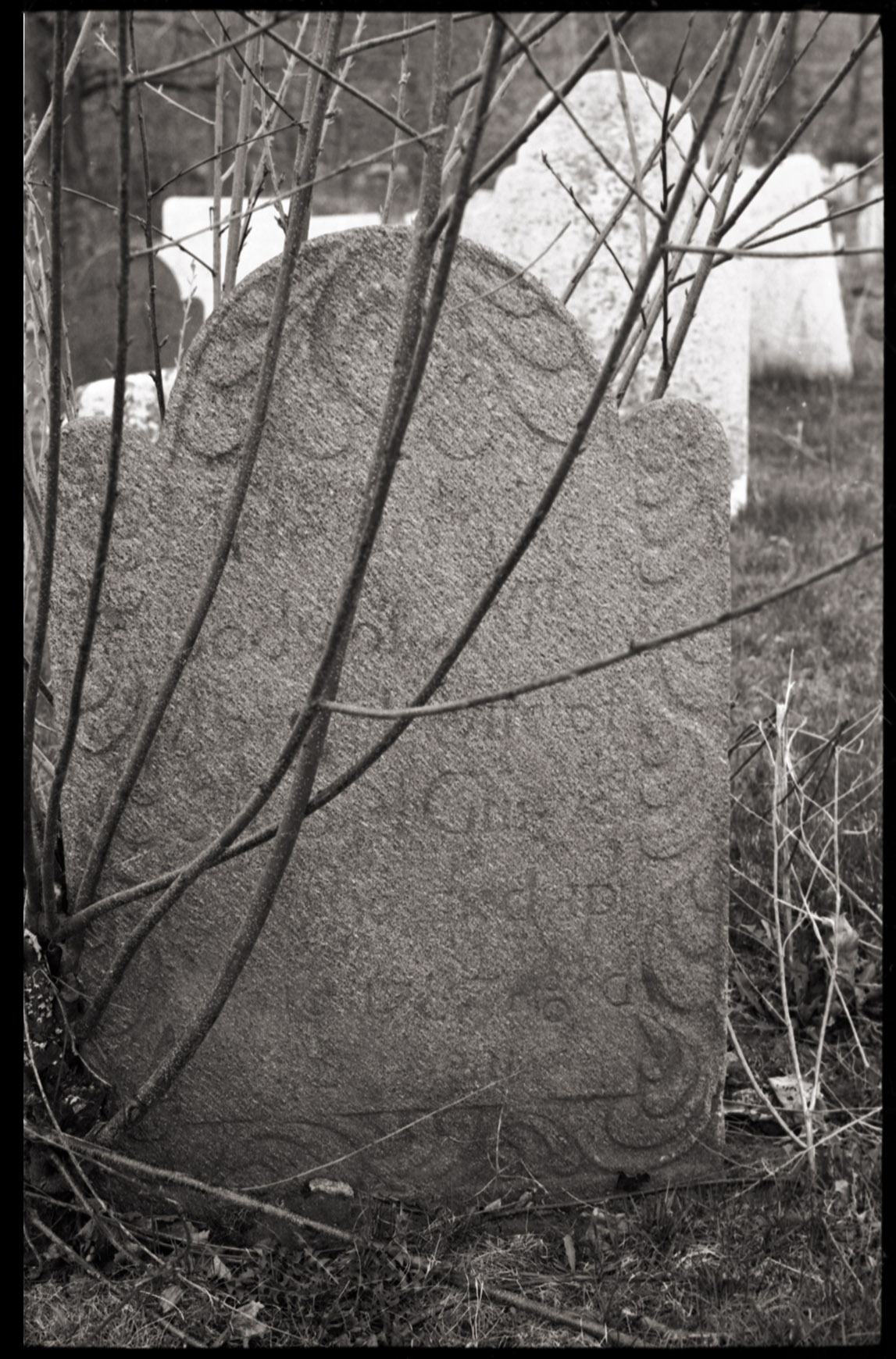An image of: Chapinville Cemetery, Salisbury, Conn., April 25, 1974