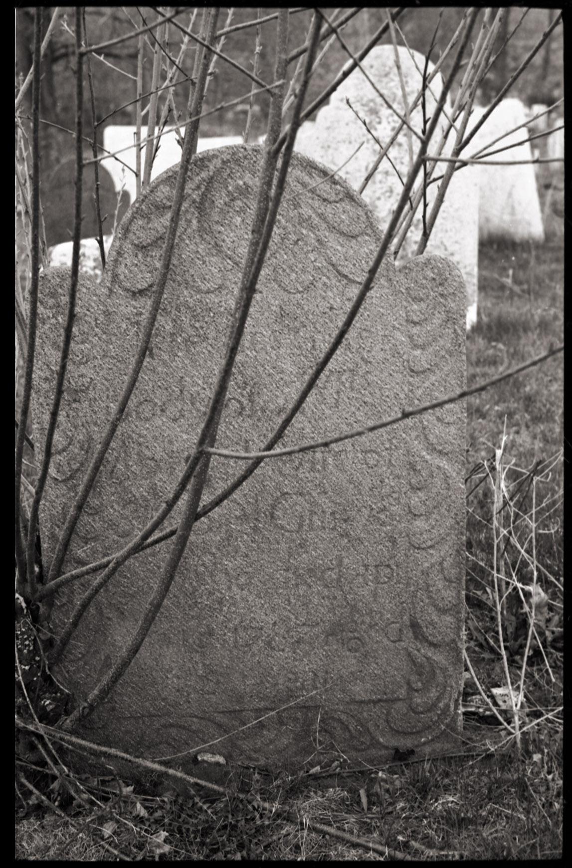 Depiction of Chapinville Cemetery, Salisbury, Conn., April 25, 1974