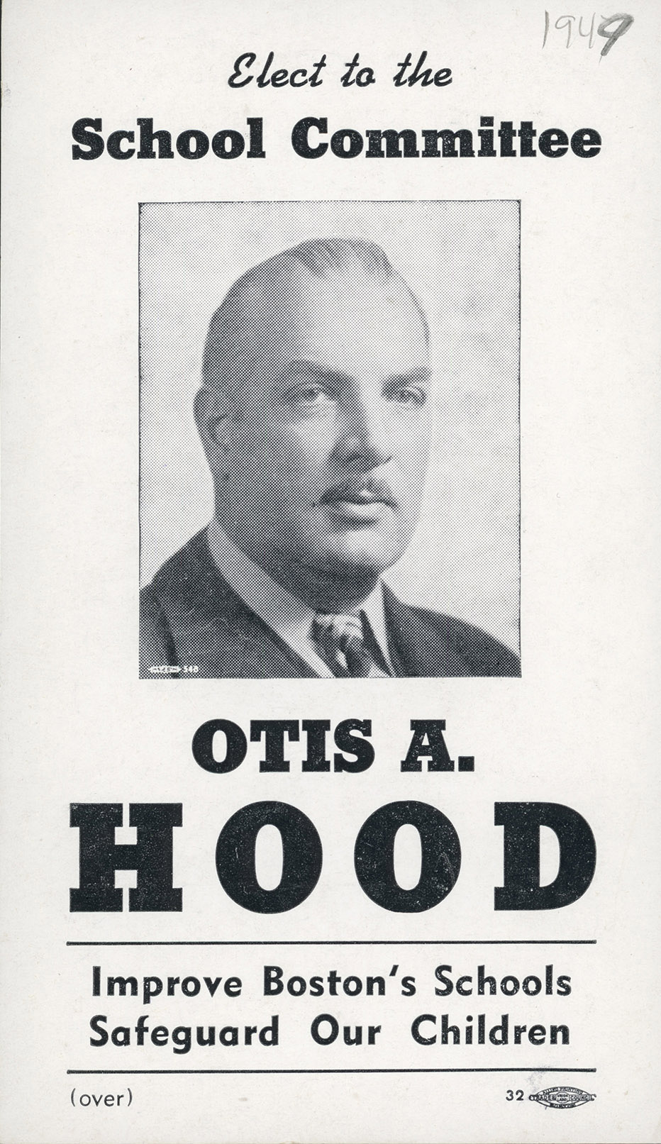 Depiction of Otis Hood for Boston School Board, 1949