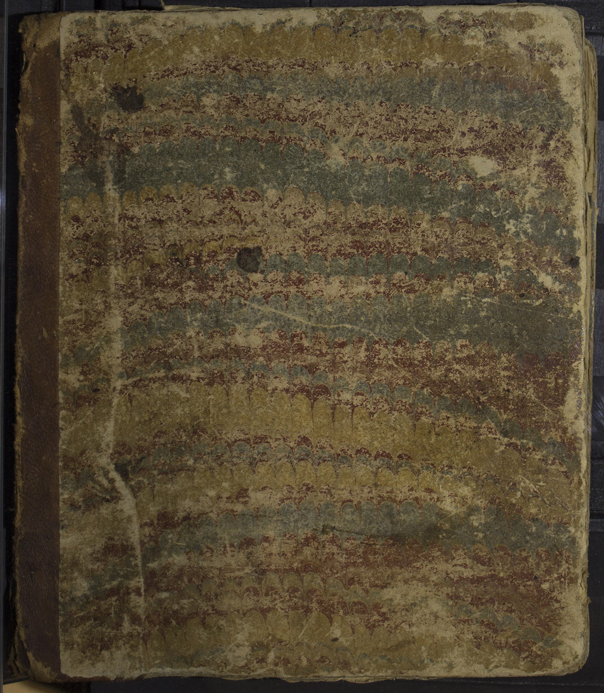 An image of: Front cover of the Maynard Exercise and Account Book