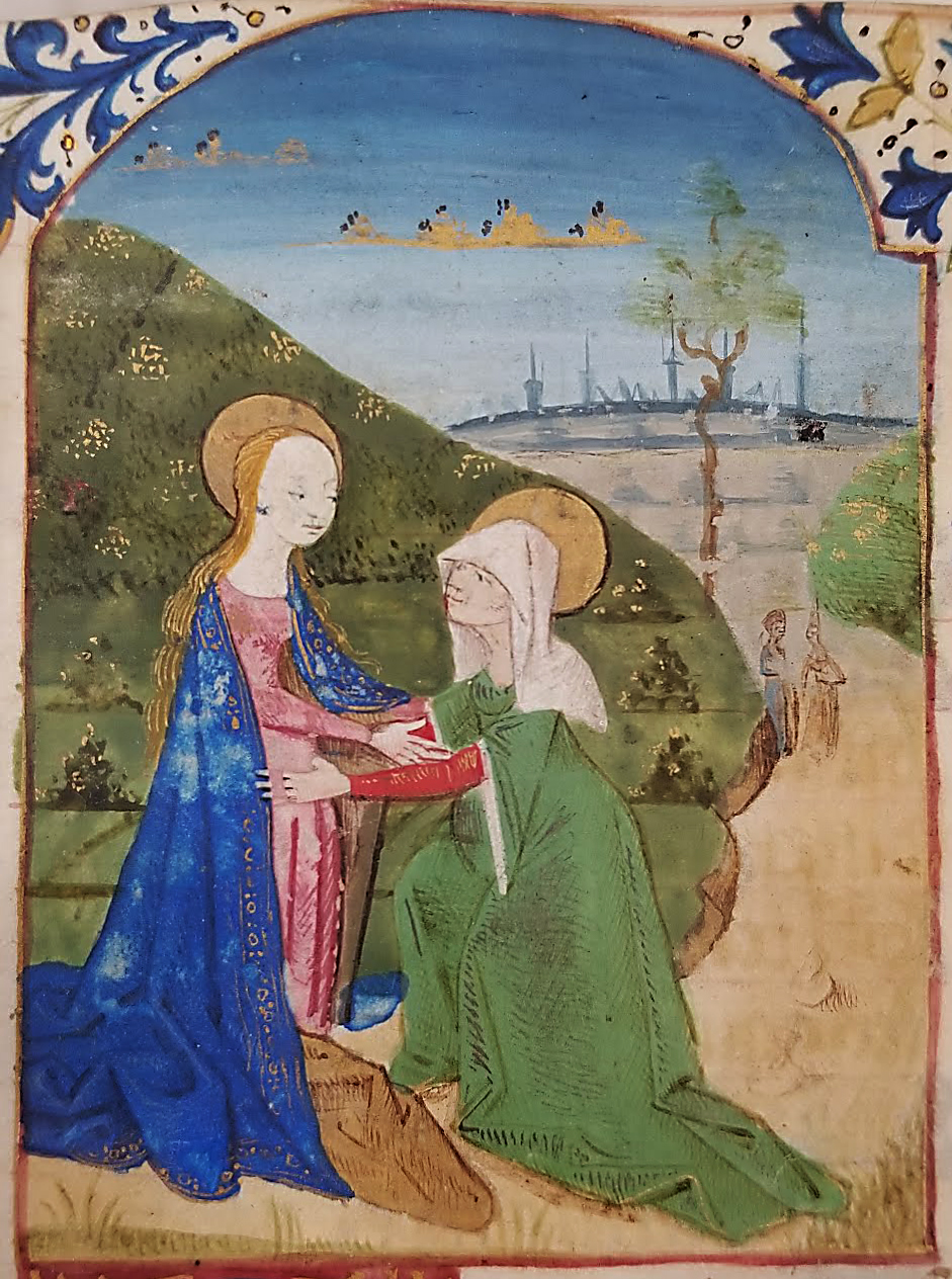 An image of: The visitation