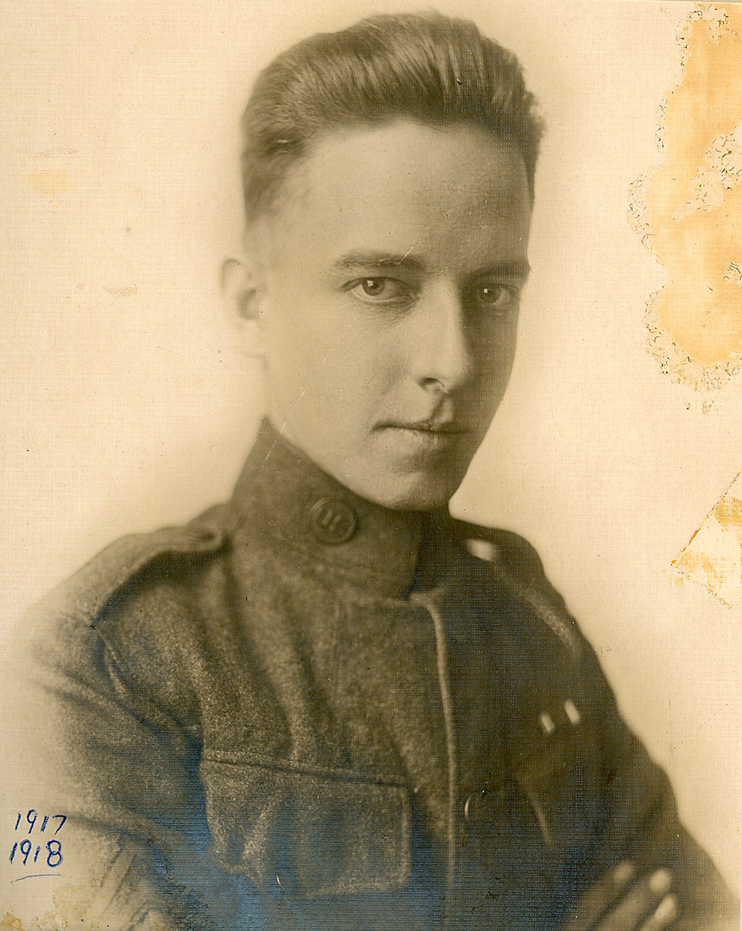 Depiction of Roswell A. Calin in uniform, 1918