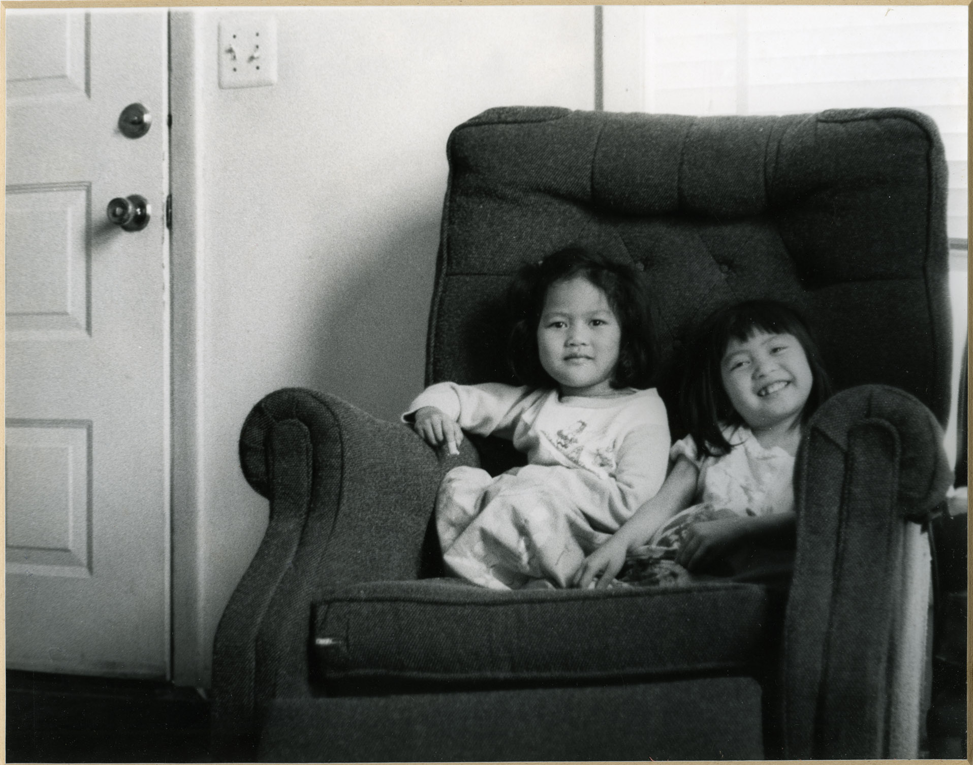 Depiction of At home, photo by Cham Nan Koy, 1982