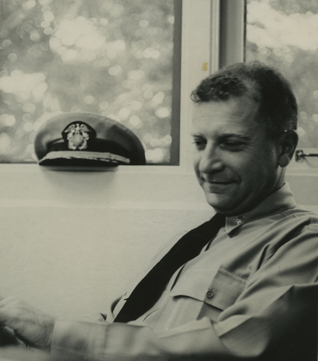 Image of William Lederer in naval uniform