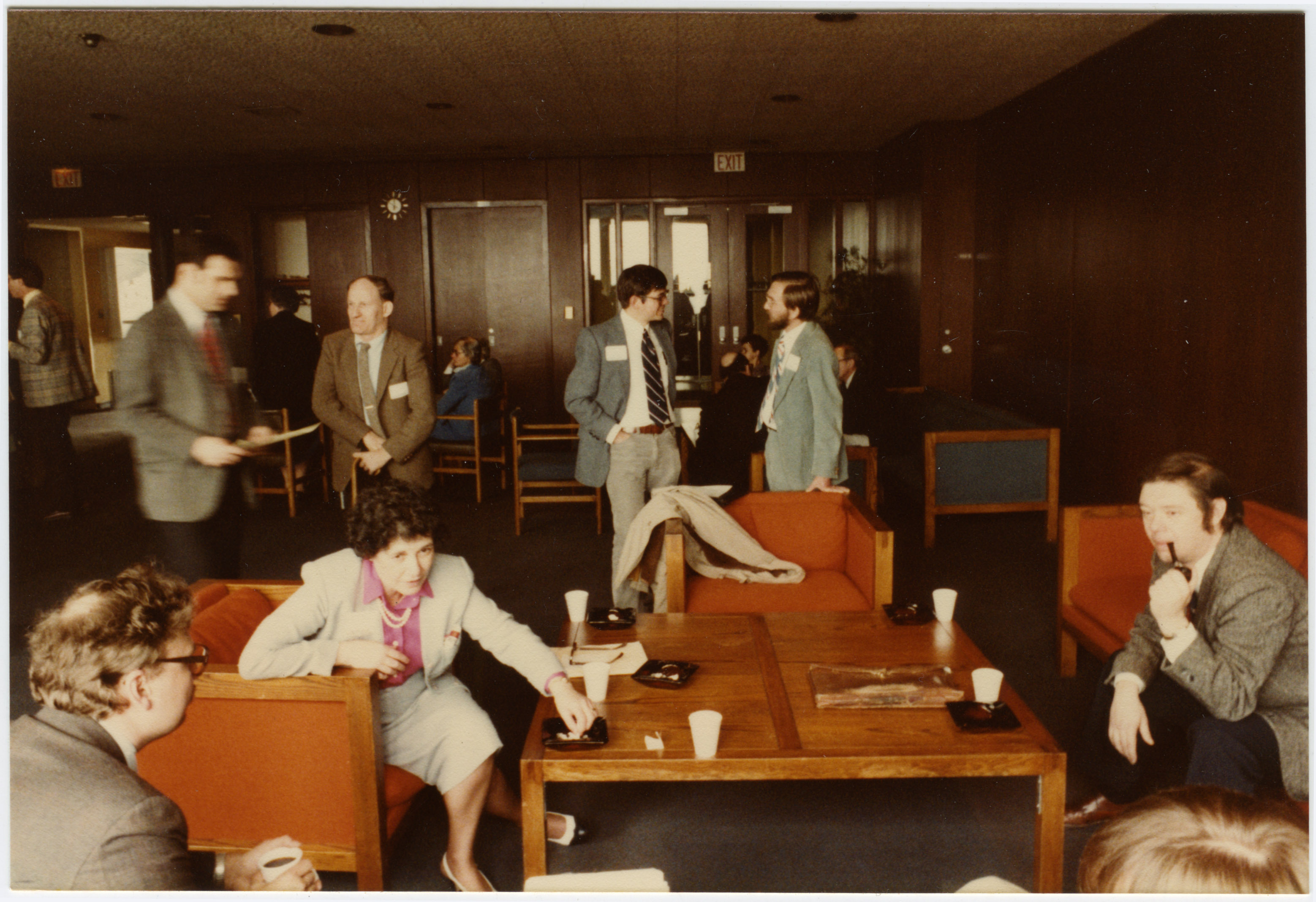 Depiction of NEHA meeting, Holy Cross College, April 1982