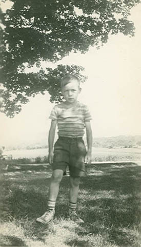 Conrad Totman as a boy.