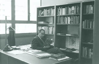 Conrad Totman in his office