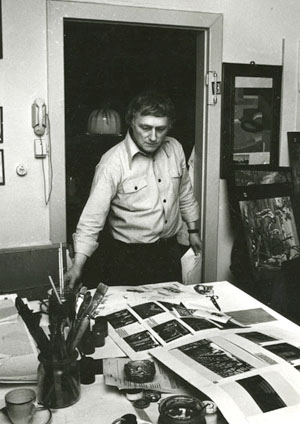 Depiction of Ebert in his studio, ca.1965