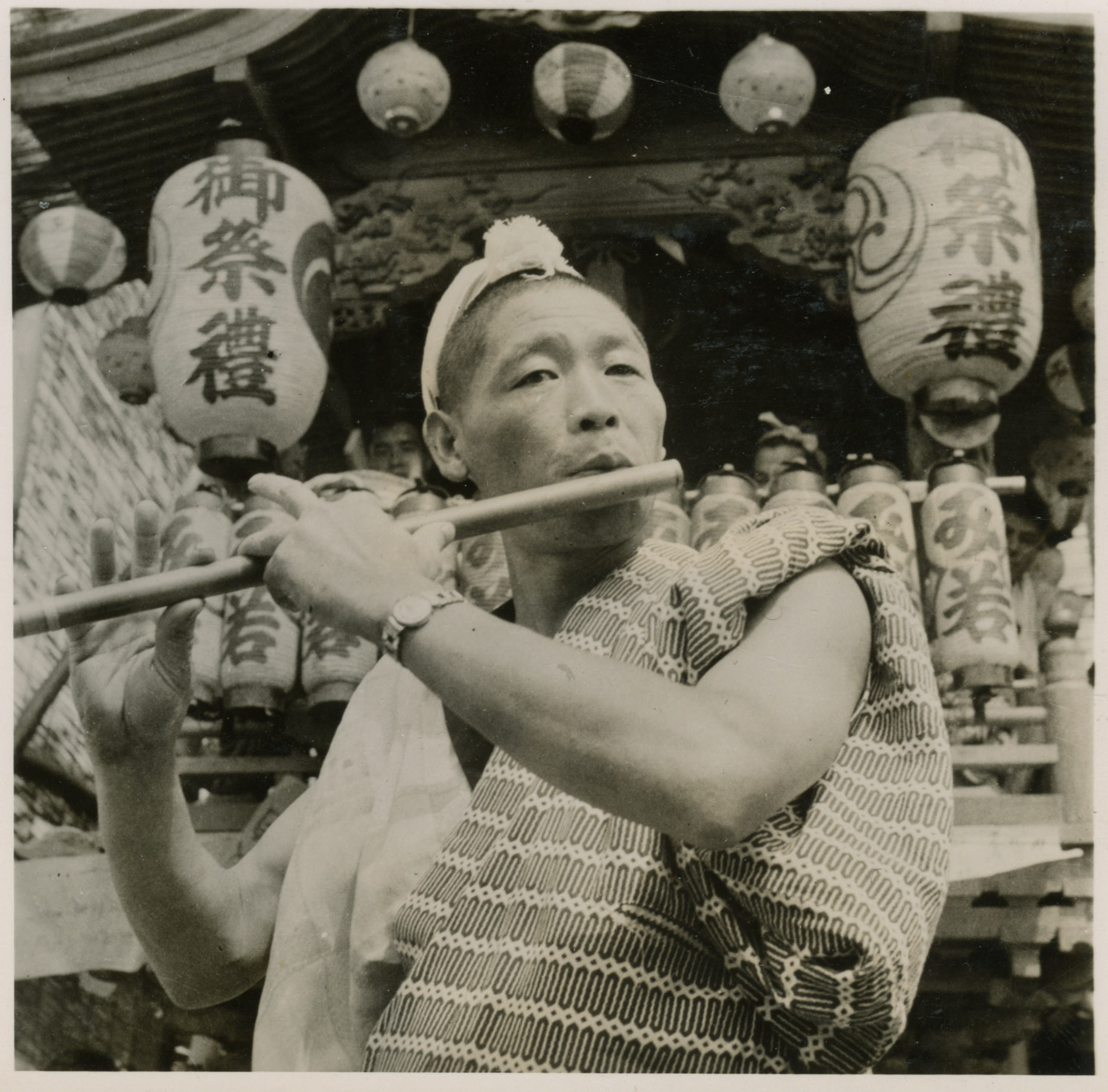 An image of: Japanese flutist