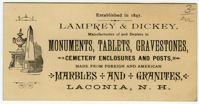 Depiction of Lamprey and Dickey business card