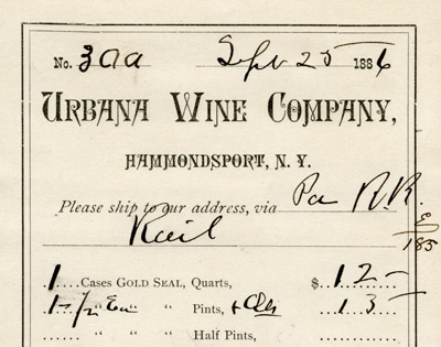Depiction of Urbana Wine Co. document