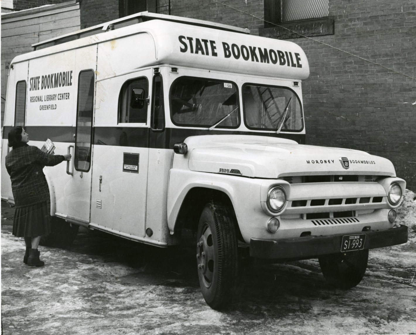Depiction of Bookmobile, 1957
