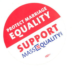 An image of: MassEquality sticker.