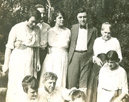 Depiction of Anglin family and friends, ca.1921