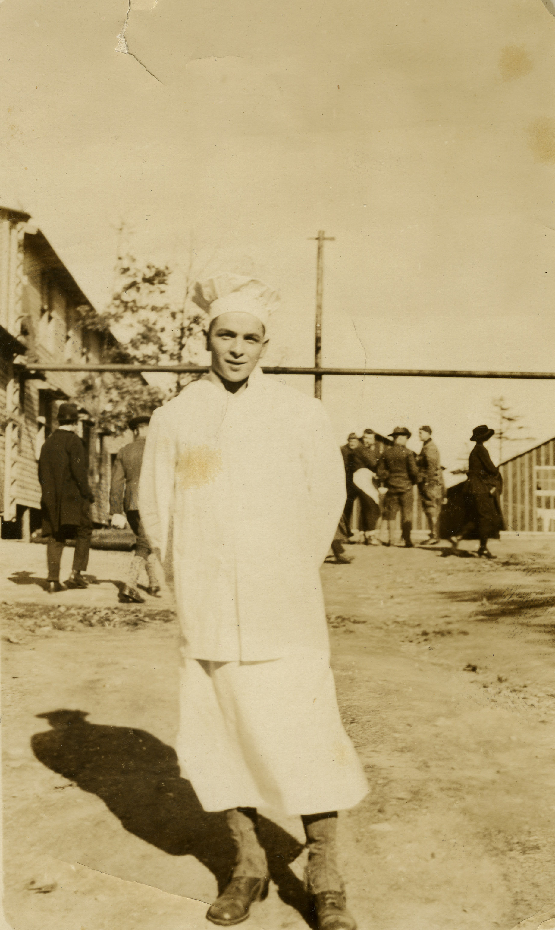 An image of: Charles Jackson at Camp Devens, 1918