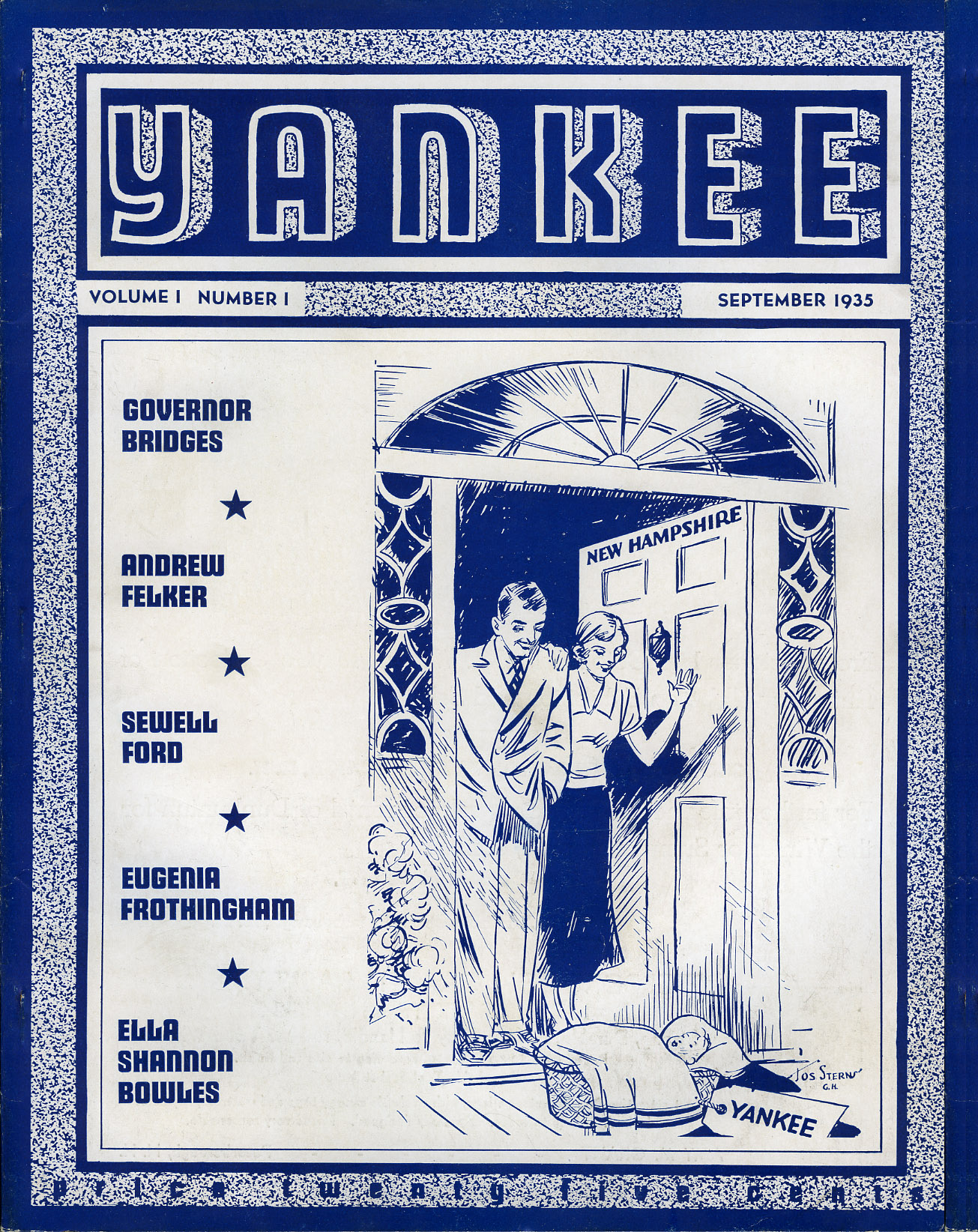 An image of: First issue of Yankee, Sept. 1935