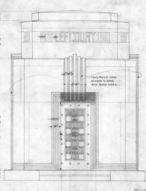Depiction of Stanze Monument Co. drawing