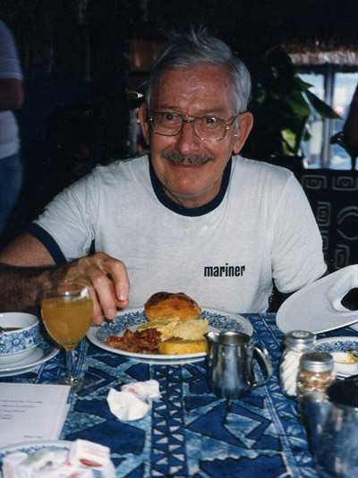Depiction of Ed Abbe in Bora Bora, 1987
