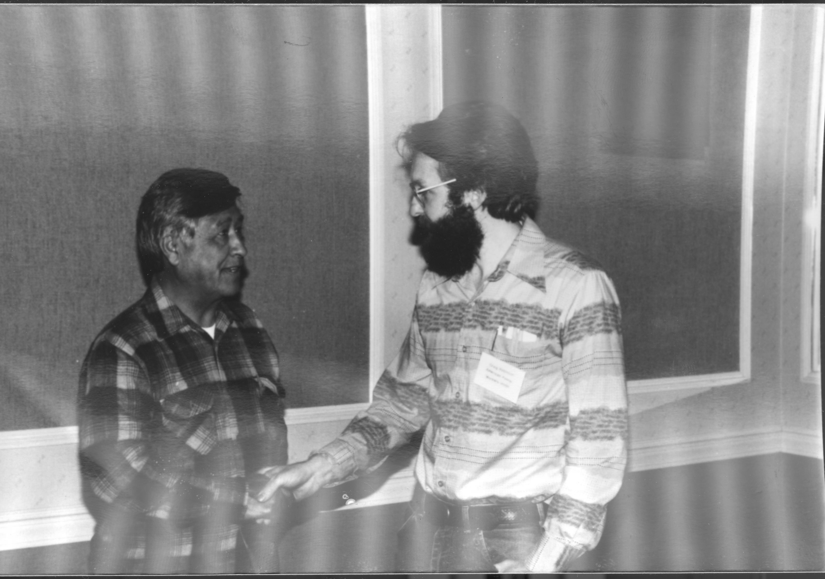 An image of: Craig Robinson meeting Cesar Chavez