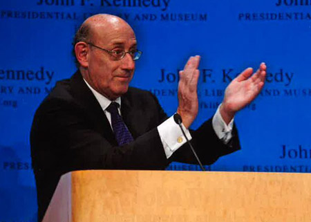 Depiction of Ken Feinberg at JFK Library