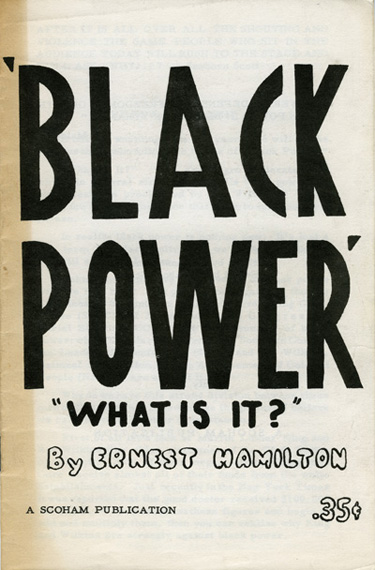 Ernest Hamilton, Black Power: What is it? (1966)