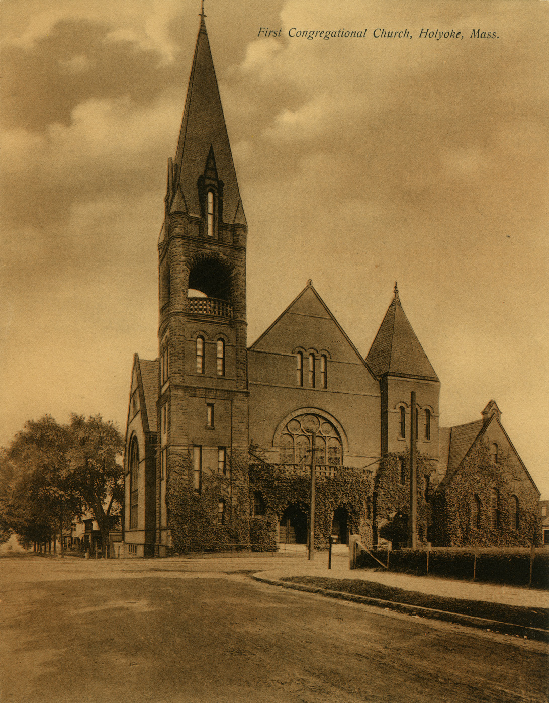 Depiction of First Congregational Church, ca.1910