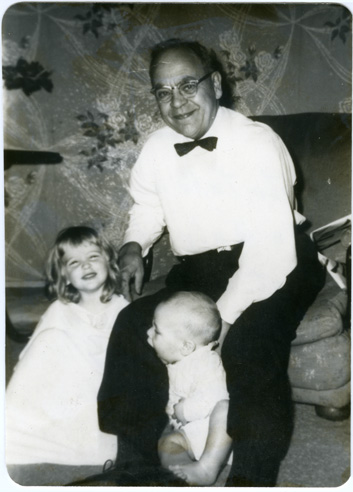 Depiction of Philip F. Whitmore and grandchildren, July 1962
