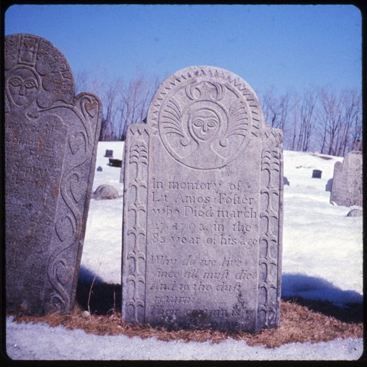 Image of Amos Foster stone, 1793, New Salem Cemetery