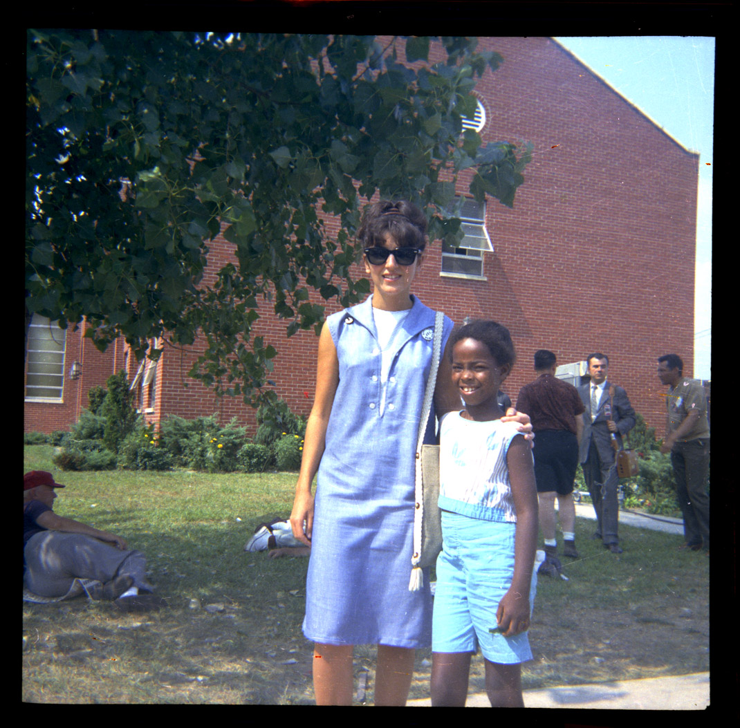 Depiction of Gloria Xifaras Clark and student, 1964