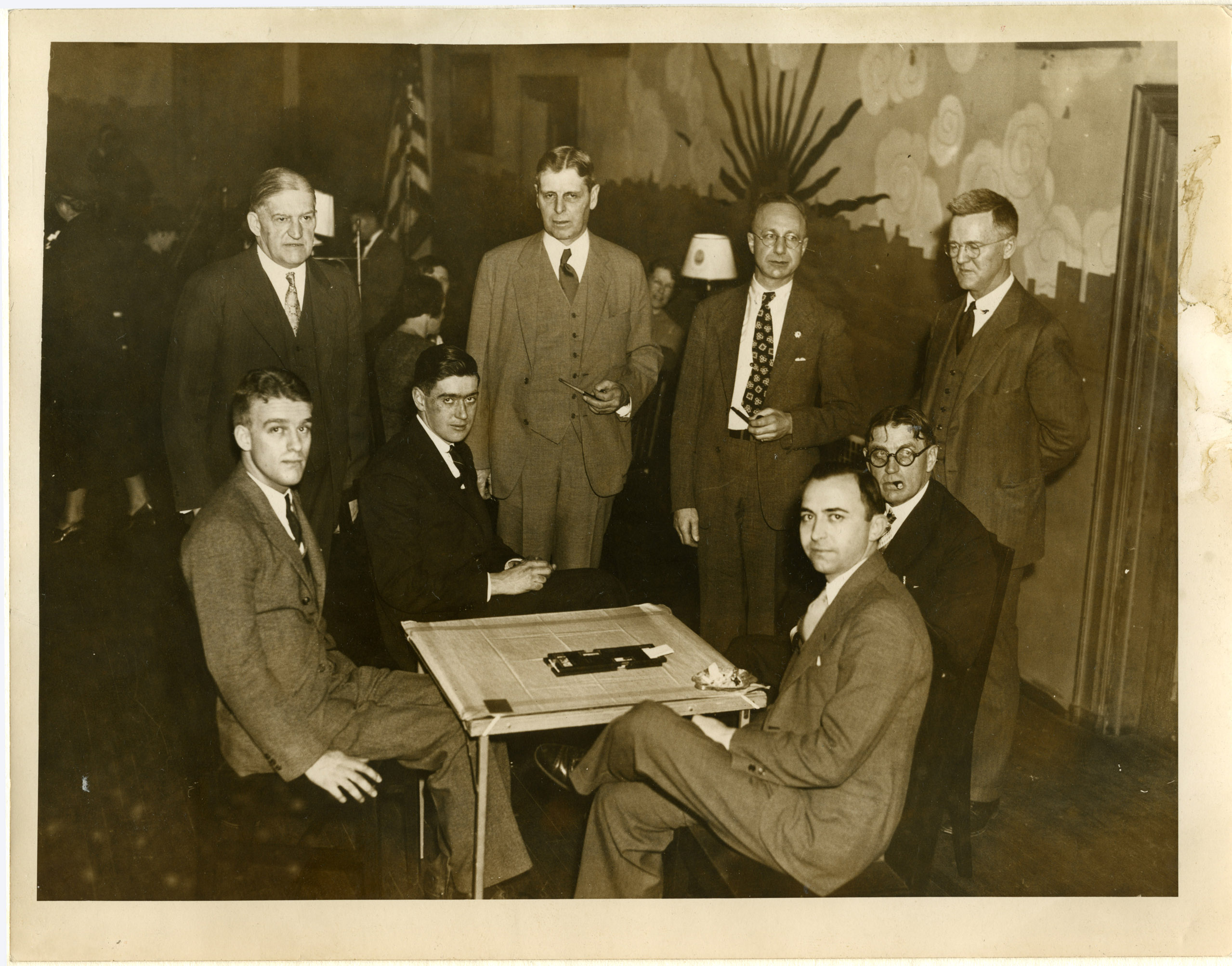 Image of Shepard Club, ca.1934 (Thomas standing, second from right)