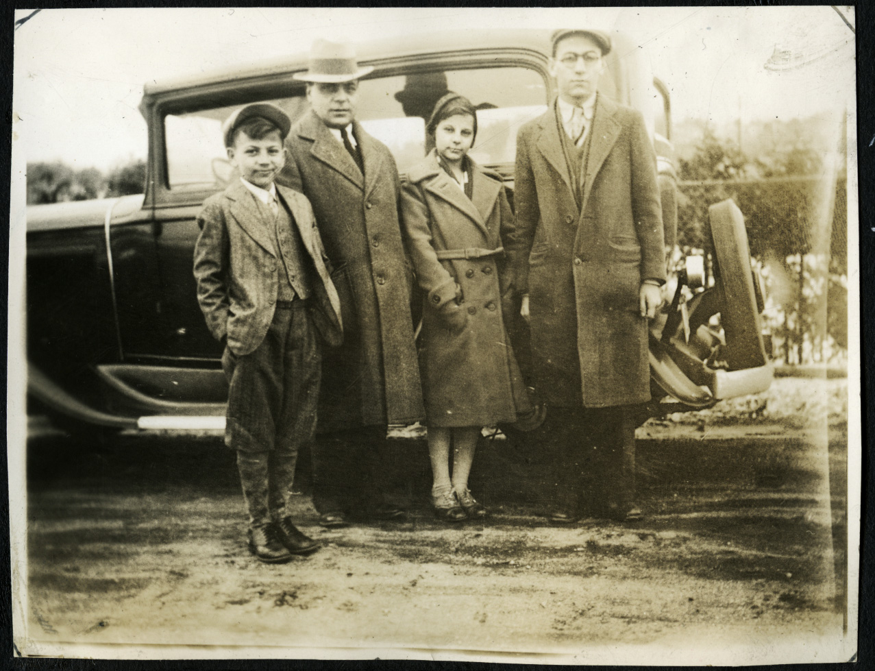 An image of: Dario, Antonio, Lillian, and Joseph Politella in Amherst, ca.1930