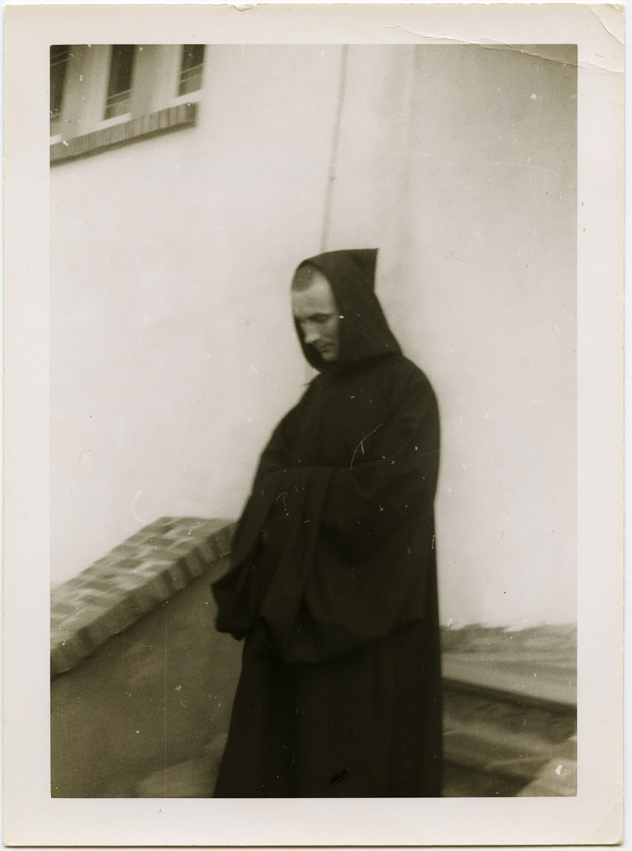 An image of: Brother David at Mount Saviour Monastery, ca. 1956.