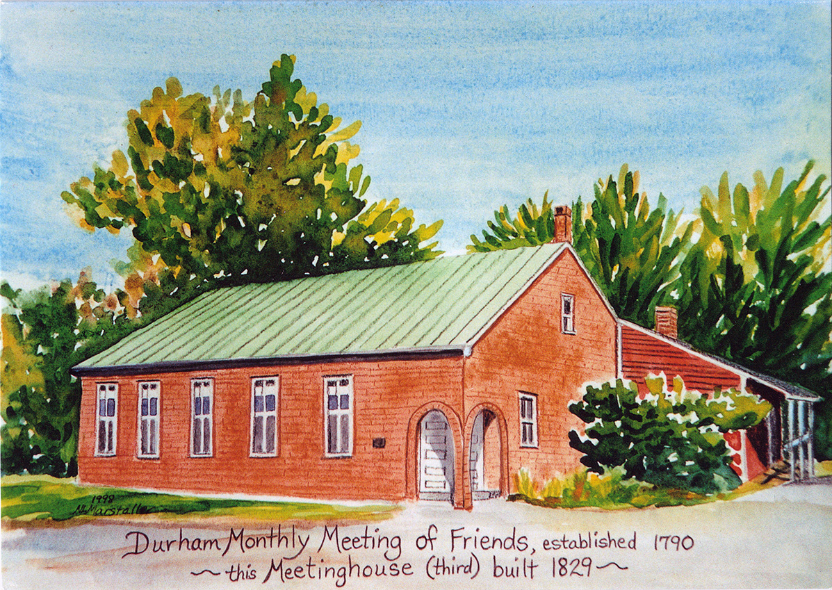 Depiction of Durham Friends Meetinghouse