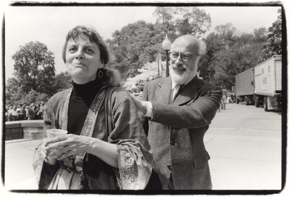 Depiction of John Gofman and Anna Mayo, 1970s<br />Photo by Lionel Delevingne