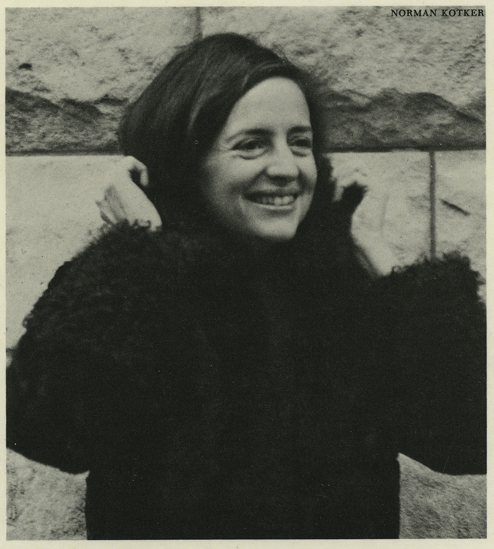 Image of Zane Kotker, photo taken by her husband Norman, ca. 1972
