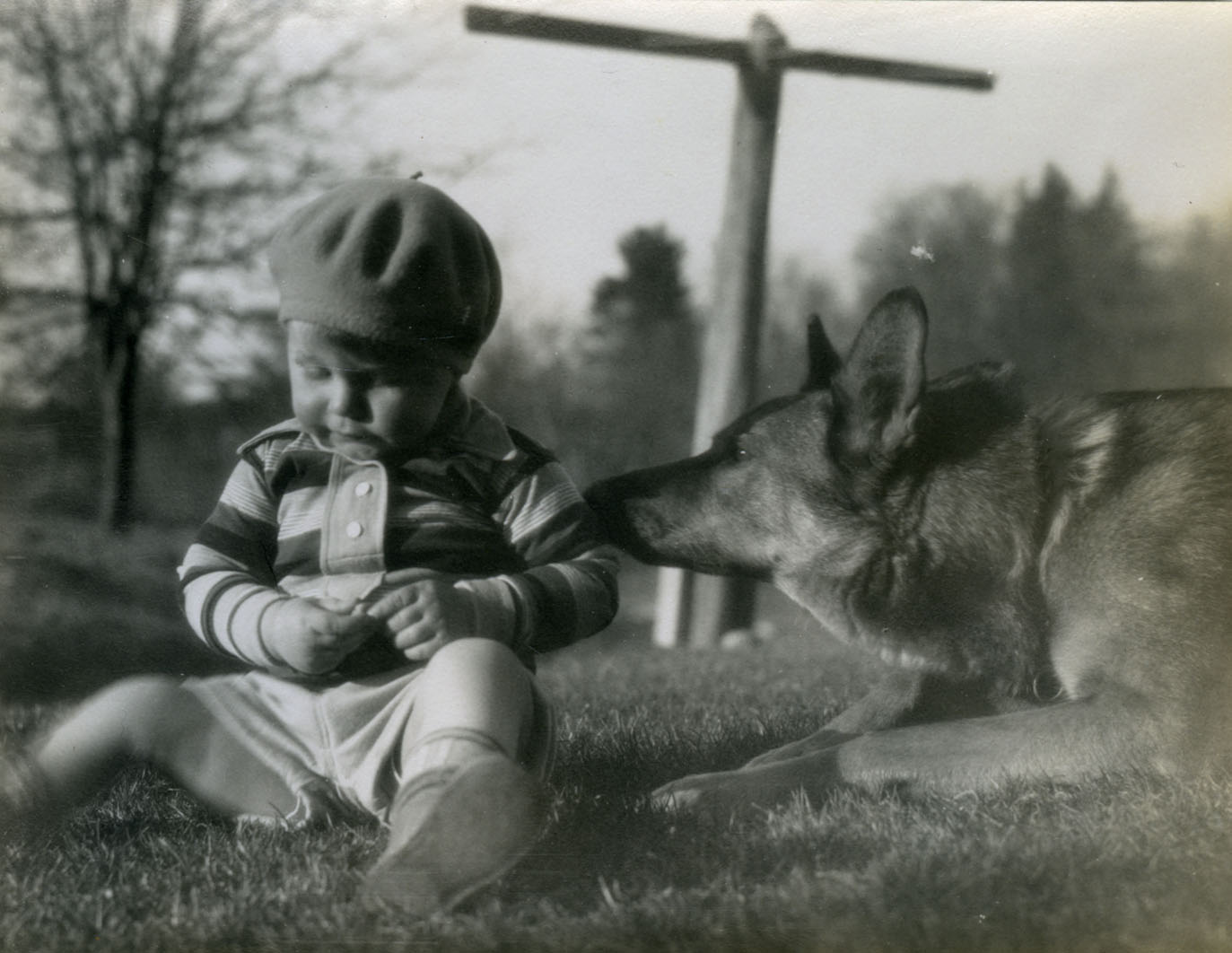 Image of Boy and his dog, 1931
