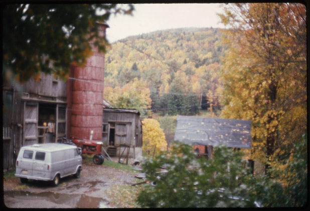 Depiction of The barn, Montague Farm Photo by Roy Finestone, Oct. 1976