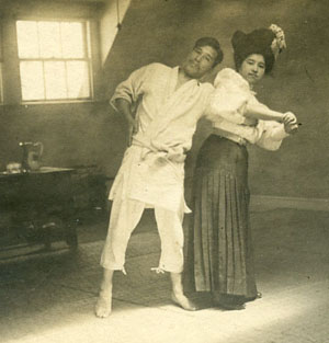 Depiction of Yoshiaki and Fude Yamashita, ca.1904