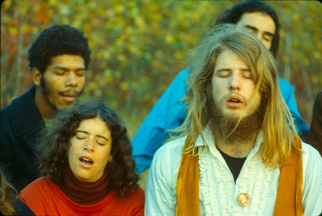 Depiction of Meditation on Blueberry Hill, 1971. Photo by Gary Cohen